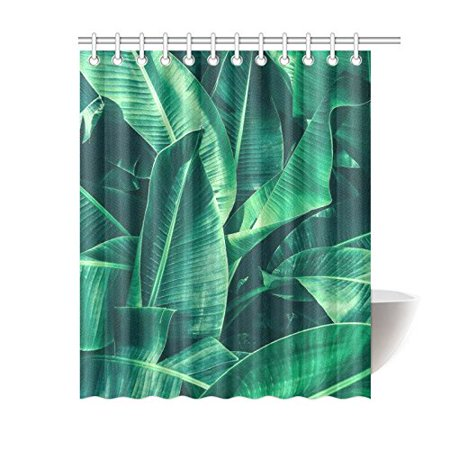 Gckg Tropical Theme Shower Curtain Jungle Palm Leaves Polyester Fabric Bathroom Sets 60x72 Inches Canada
