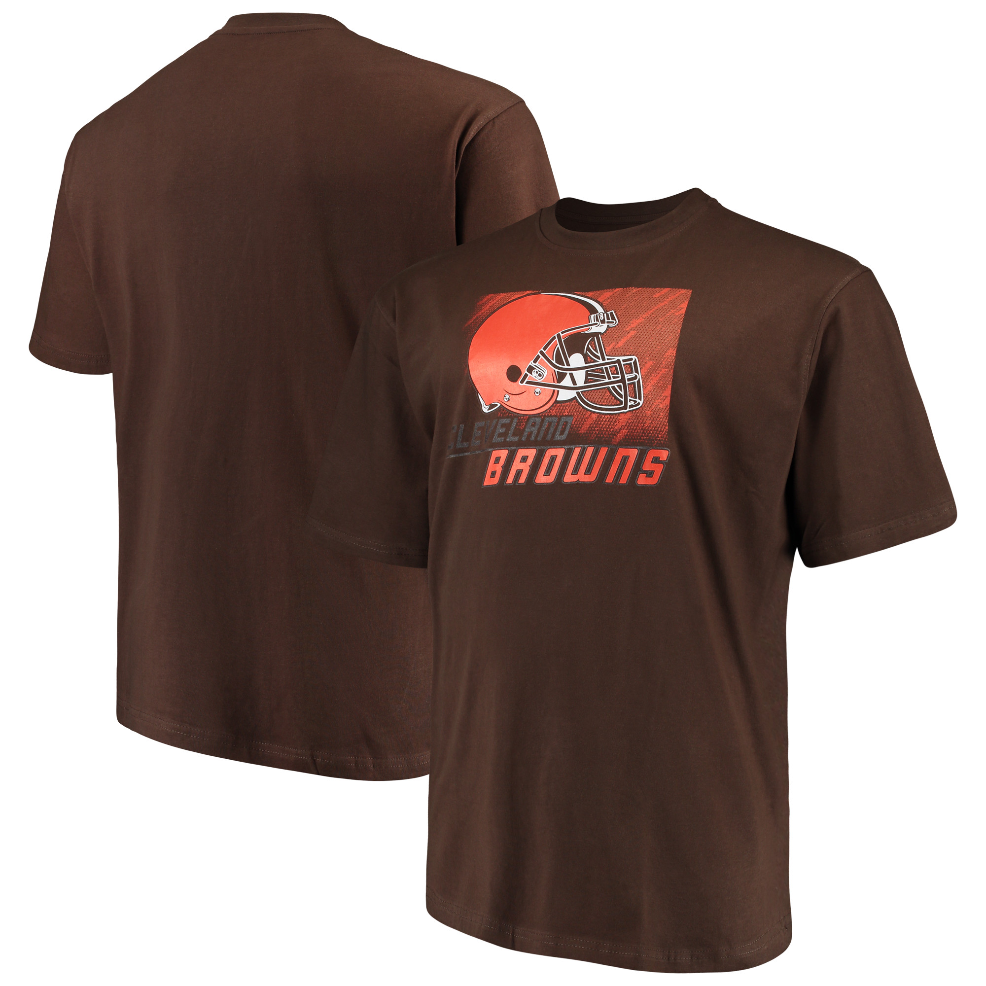 Men's Majestic Brown Cleveland Browns Big & Tall Reflective T-Shirt