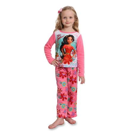 Girls Disney Princess Fleece (Disney Princess Elena Girls Fleece Pajama Set, Pink, Size: 4 )
