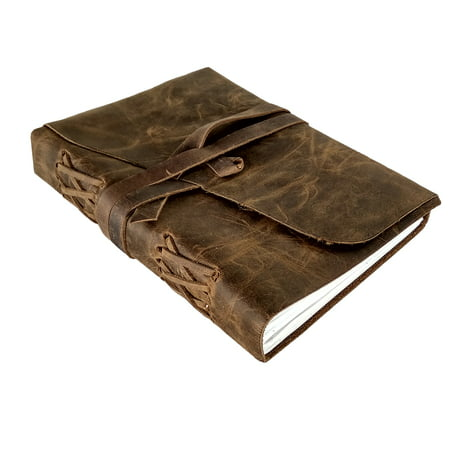 Leather Journal to Write in - Genuine Leather Notebook Diary for Men Women - Handmade Leather Notebook Journal - Gift for Writers Artist Poet Him Her