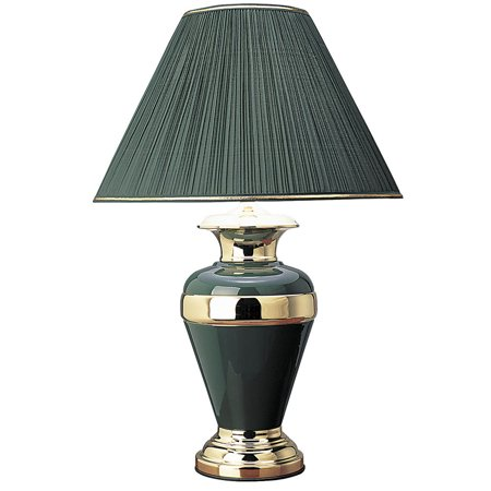 32 Quot Tall Metal Table Lamp Urn Shaped With Hunter Green