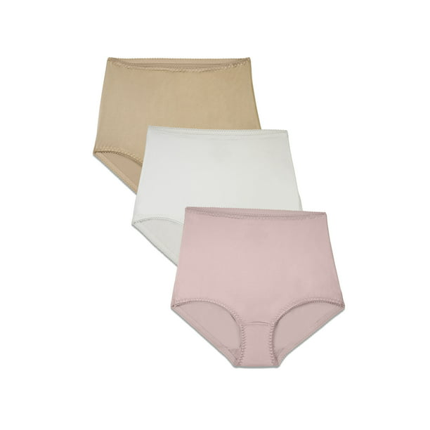 Radiant By Vanity Fair Radiant By Vanity Fair Women S 3 Pack Undershapers Light Control Brief Panty Style 3440301 Walmart Com Walmart Com