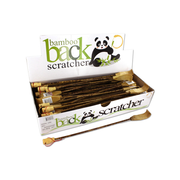 Bamboo Back Scratcher Countertop Display (Case of 60 )