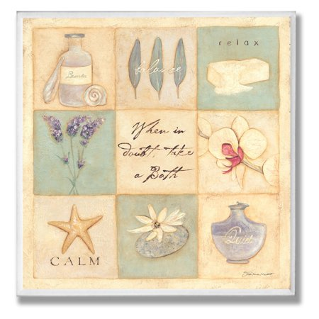 When In Doubt Take A Bath Patchwork Wall Plaque