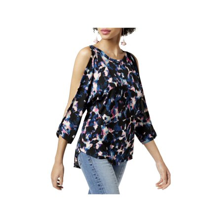 Rachel Rachel Roy Womens Printed Split Sleeves Blouse Split Print Blouse