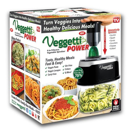 Veggetti Power 4-in-1 Veggie Spaghetti Spiralizer (Best Vegetable Pasta Maker)