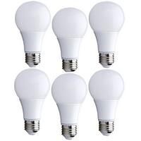 6 Pack Bioluz LED 60 Watt Light Bulb Replacement Warm White Non-Dimmable A19 LED Light Bulbs