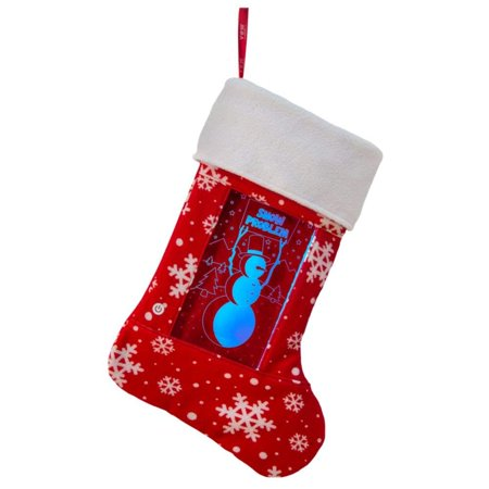 YEW Stuff POP Lights Snowman LED Light Up Christmas Stocking - Snowman Led