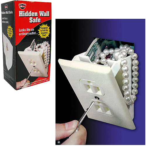 Trademark Hidden Wall Safe with Cutout Saw and Template, 82-558 White