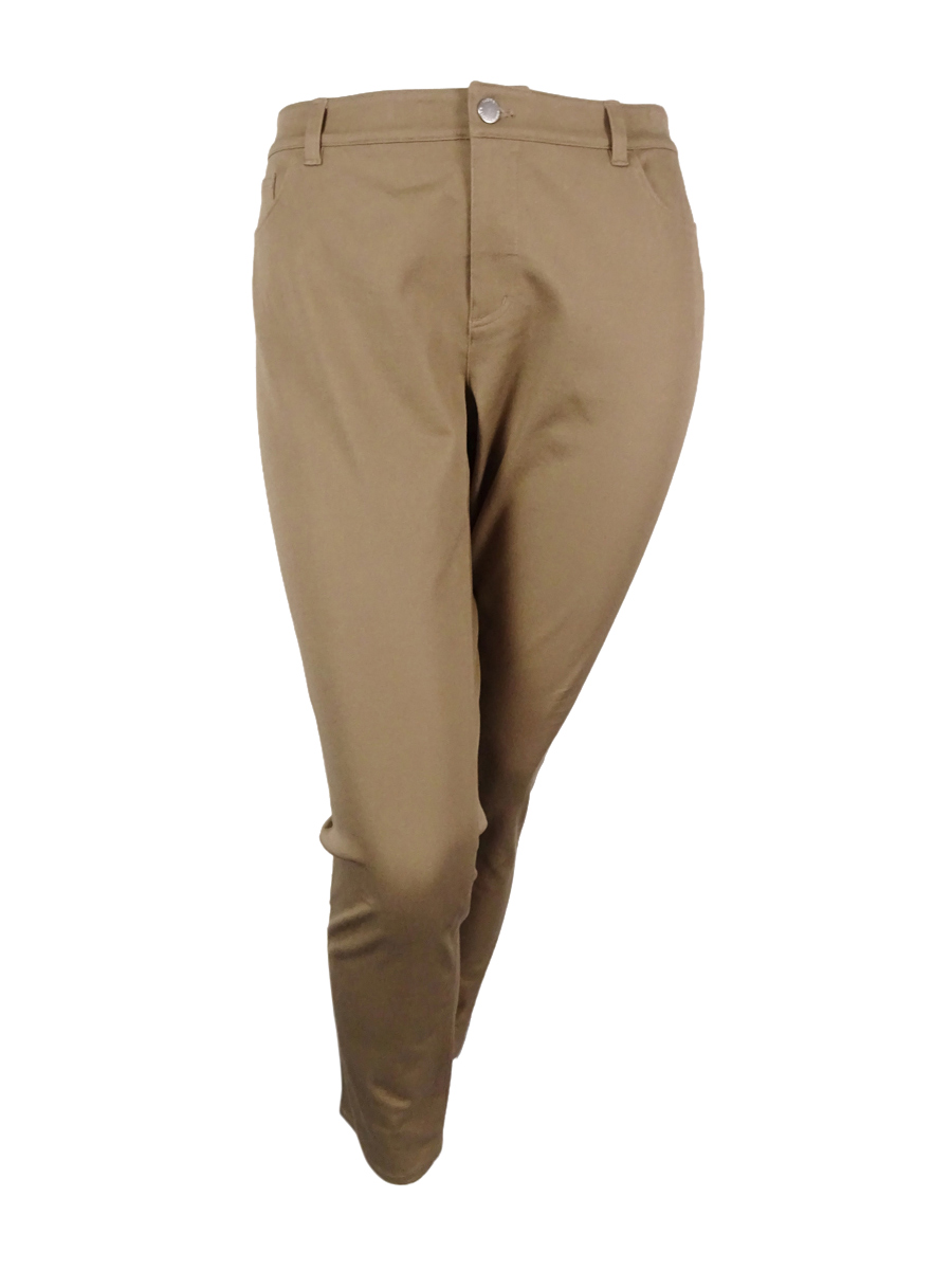 Lauren Ralph Lauren Women's Solid Pants (18W, Canyon Taupe)