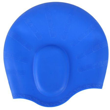 Swim Cap for Long Hair Silicone Swimming Hat with Ear Pockets for Men and