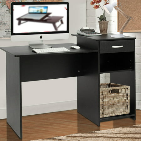 Zimtown Computer Desk Home Office Wood Laptop Table Study Workstation Dorm with Drawer ()