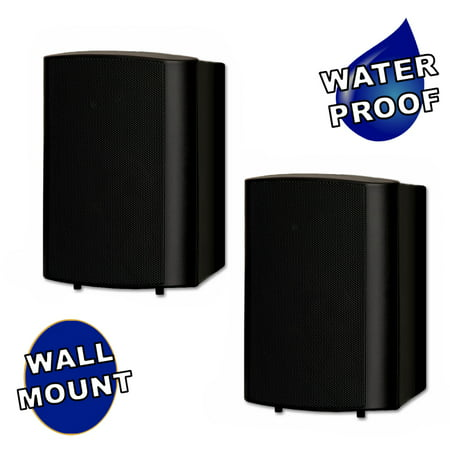 Theater Solutions TS425ODB Indoor / Outdoor Speakers Mountable Black Pair