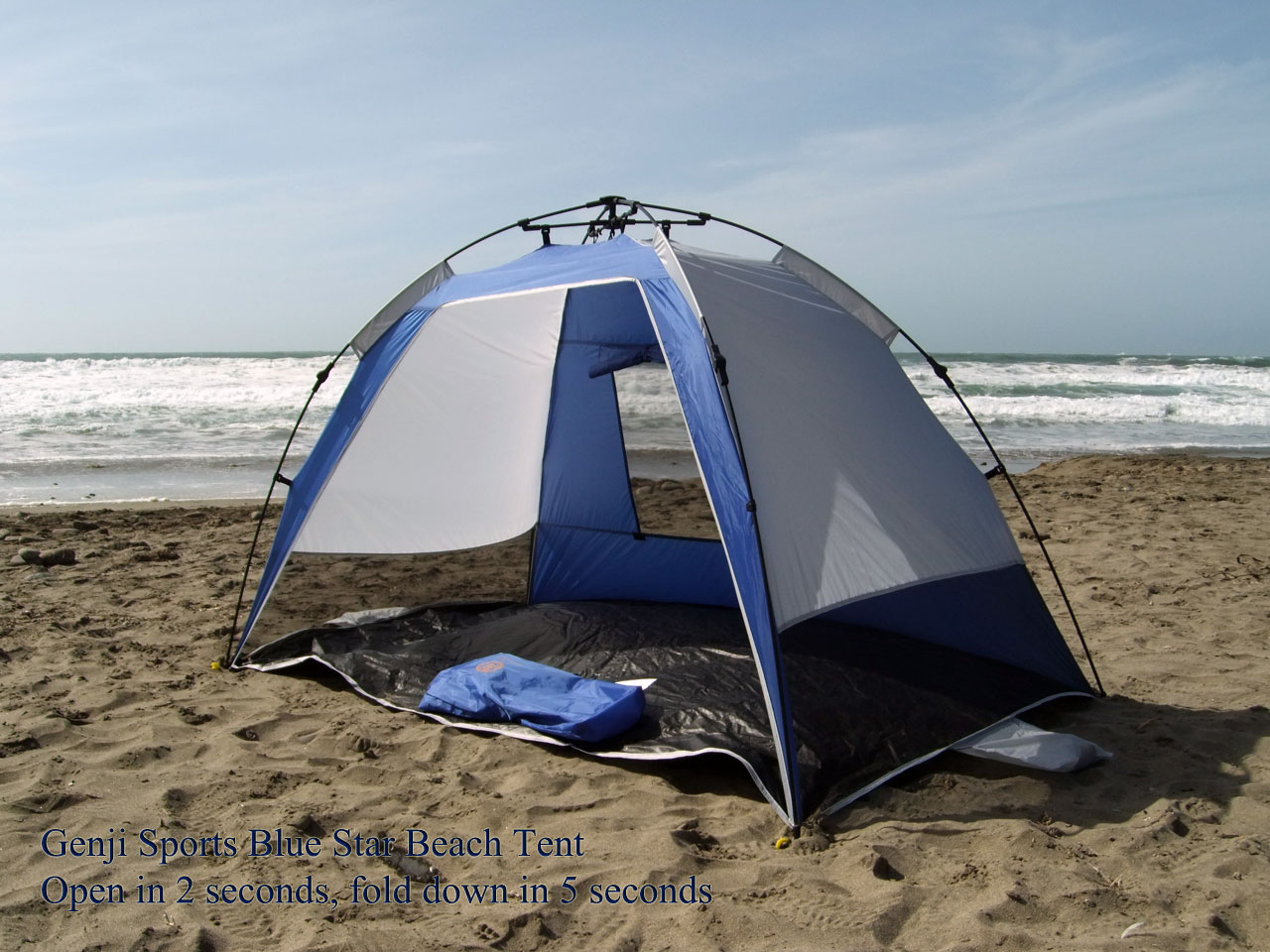 & Genji Sports Instant Blue Star Beach SunShelter Tent - Walmart.com