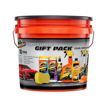 Armor All Complete Car Care Gift Pack Bucket, 10 Piece Kit