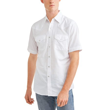 - Ely Cattleman Big and tall men's short sleeve wrinkle free oxford western