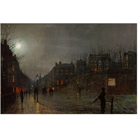 "Trademark Art ""Going Home at Dusk 1882"" Canvas Art by John Grimshaw"