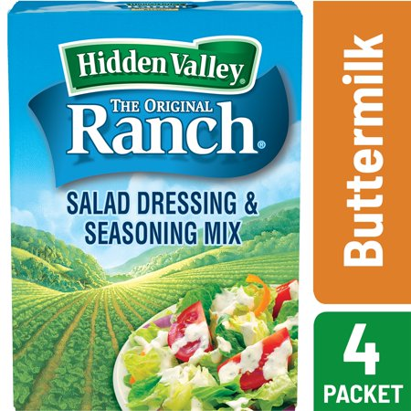 (2 Pack) Hidden Valley Original Ranch Salad Dressing & Seasoning Mix, Buttermilk Recipe 1.6