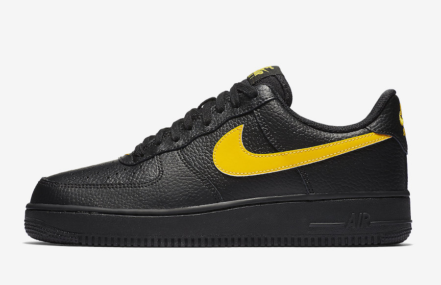 low priced 8953b 32cc7 ... discount nike air force 1 07 lv8 low black amarillo aa4083 002 e5e9b  01e10