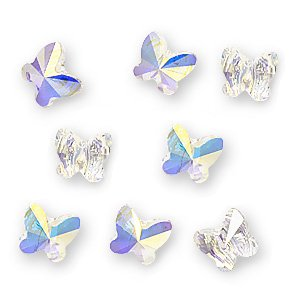 Swarovski Crystal, #5754 Butterfly Beads 6mm, 8 Pieces, Crystal AB 6mm Wholesale Swarovski Crystal Beads