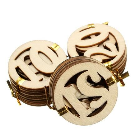 NO.1-NO.31 round shape numbers wooden veneer Wood chipboard Scrapbooking Embellishment DIY Craft - image 1 of 3