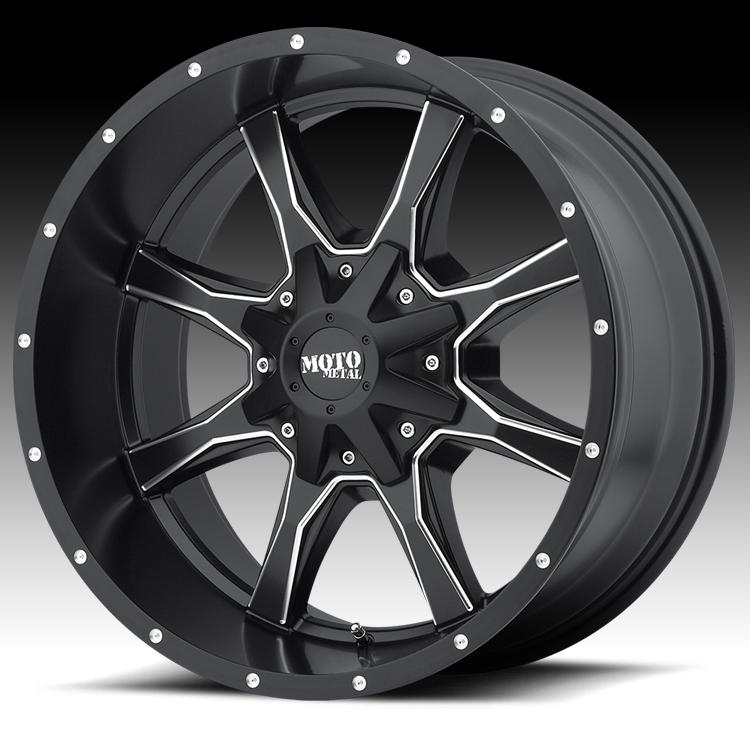 Moto Metal MO970 Black Milled 20x9 6x120 / 6x5.5 0mm (MO97029078900)