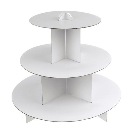 Zebra Cupcake Cardboard Stand, 3-Tier, 12-Inch, White](3 Tier Cupcake Stand)