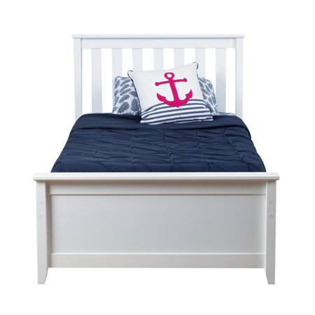 Max & Lily Solid Wood Twin Platform Bed with Trundle Frame - Walmart.com