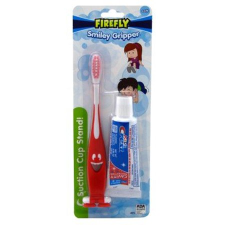 Firefly Toothbrush Smiley Gripper With Toothpaste - Fire Flys