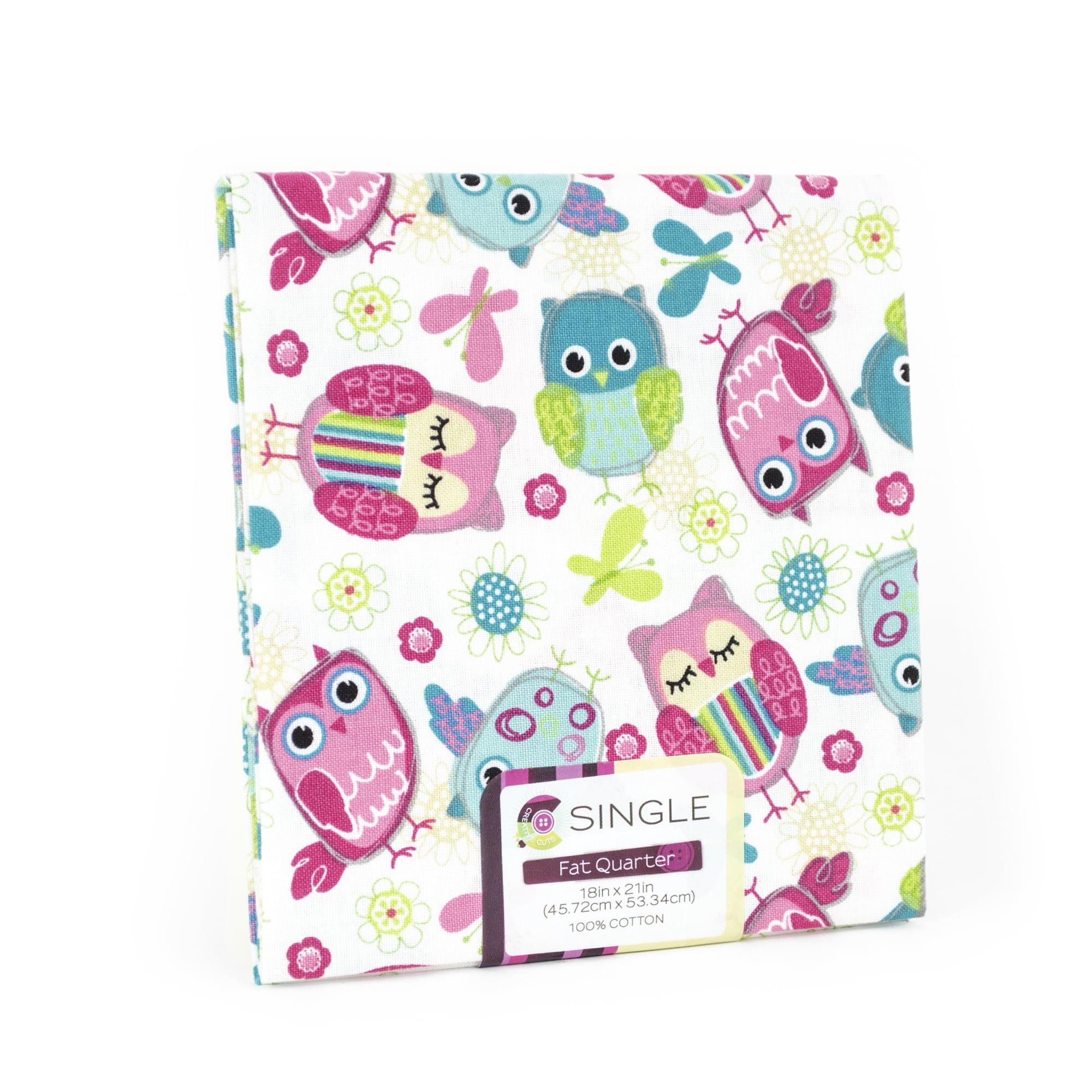 "Fabric Editions- Cotton Fabric, Fat Quarter, 18"" x 21"" OWL ..."
