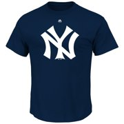 """New York Yankees Majestic MLB """"Official Logo"""" Cooperstown Men's S/S T-Shirt"""
