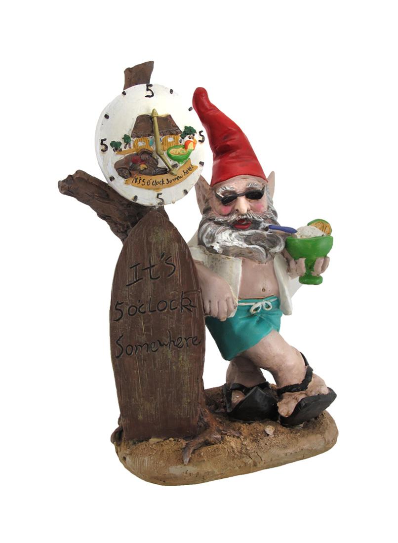5 O'clock Somewhere Beach Bum Gnome Statue by Home Styles