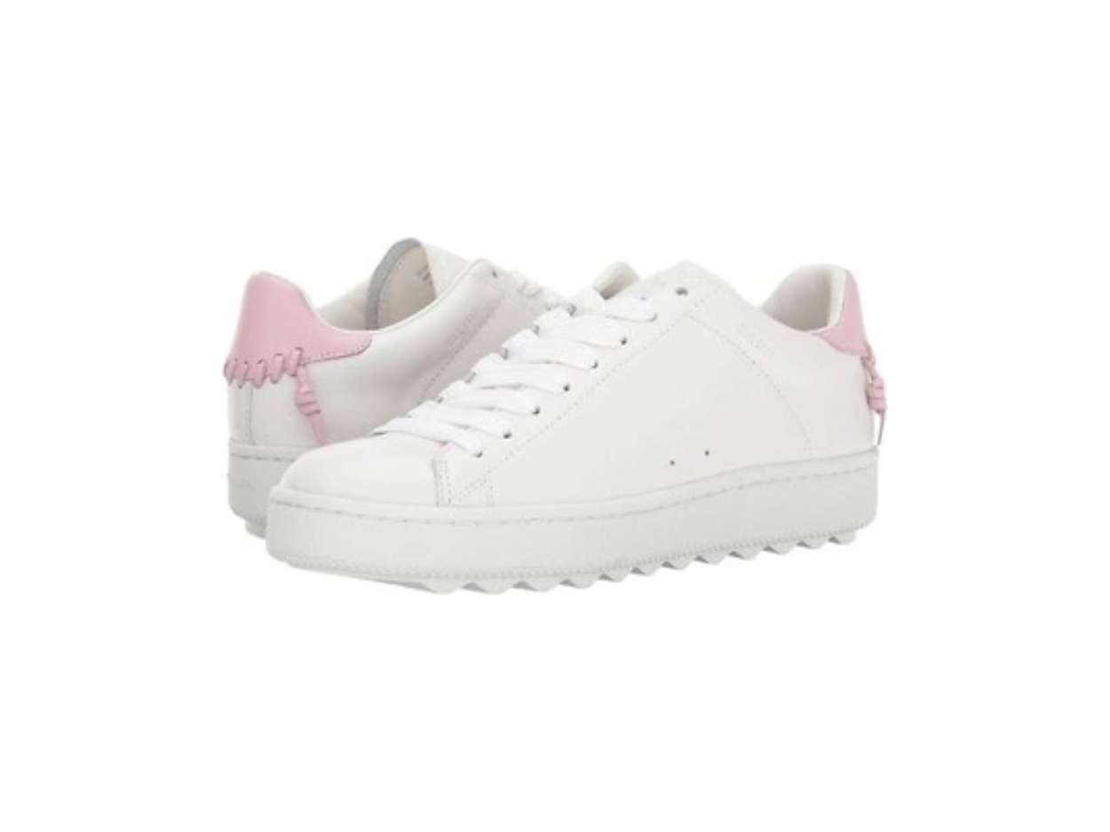 Coach Womens C101 Leather Leather Low
