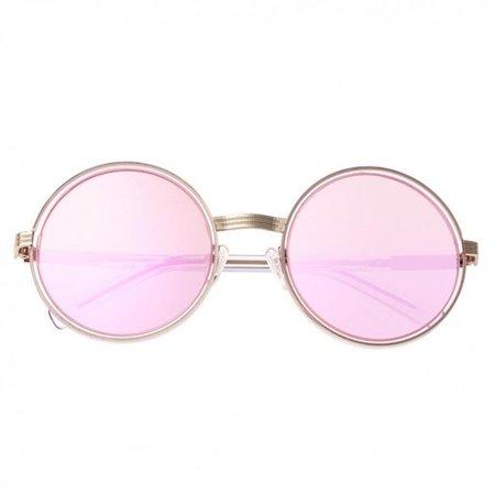 Bertha BRSBR028PK Riley Polarized Sunglasses - Silver & Pink