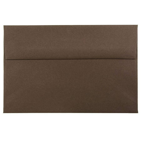JAM Paper A8 Invitation Envelope, 5 1/2 x 8 1/8, Chocolate Brown Recycled,