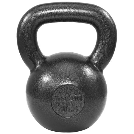 Yes4All Solid Cast Iron Kettlebell Weights Set – Great for Full Body Workout and Strength Training – Kettlebell 5 lbs - 60lbs