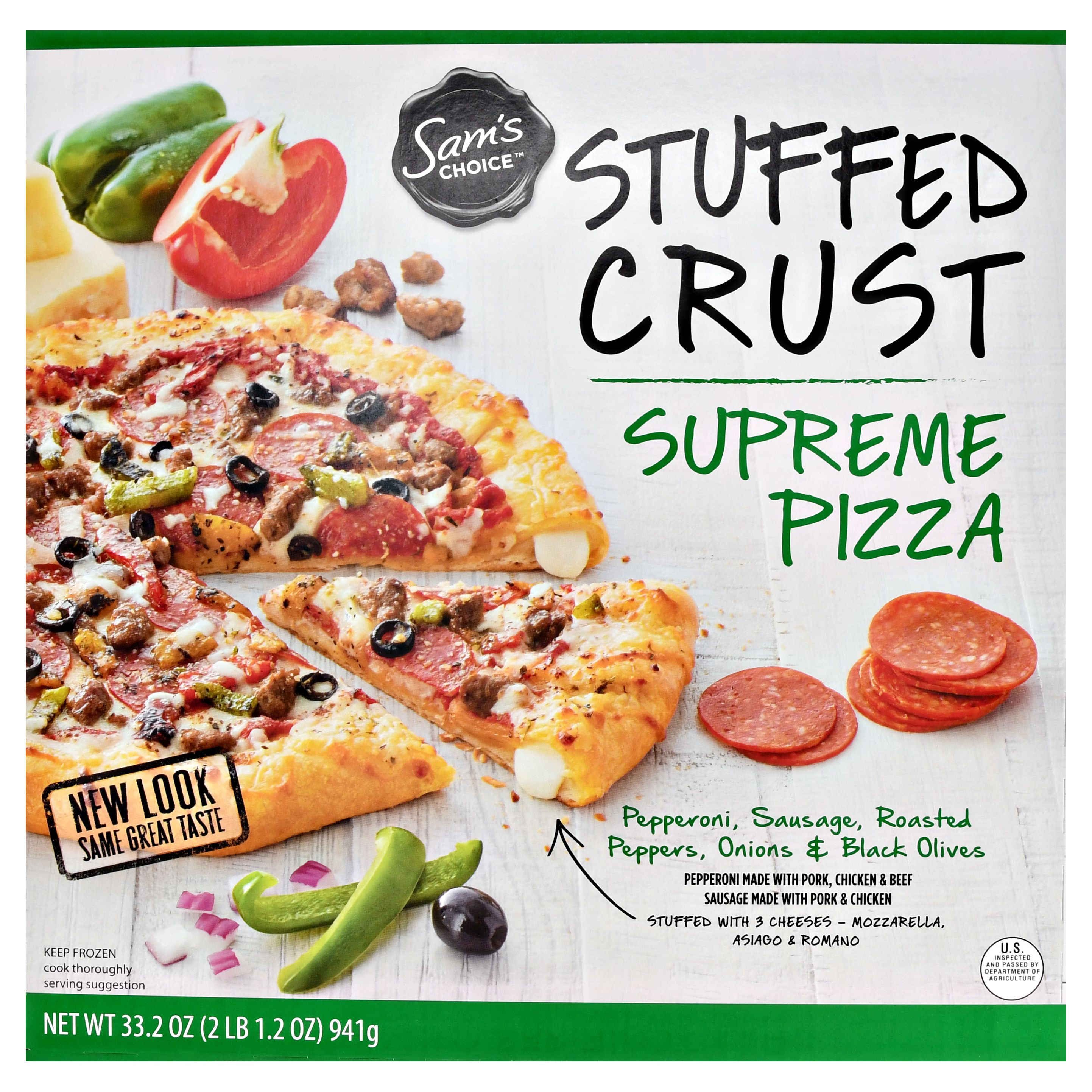 Sam's Choice Frozen Stuffed Crust Supreme Pizza, 33.2 oz
