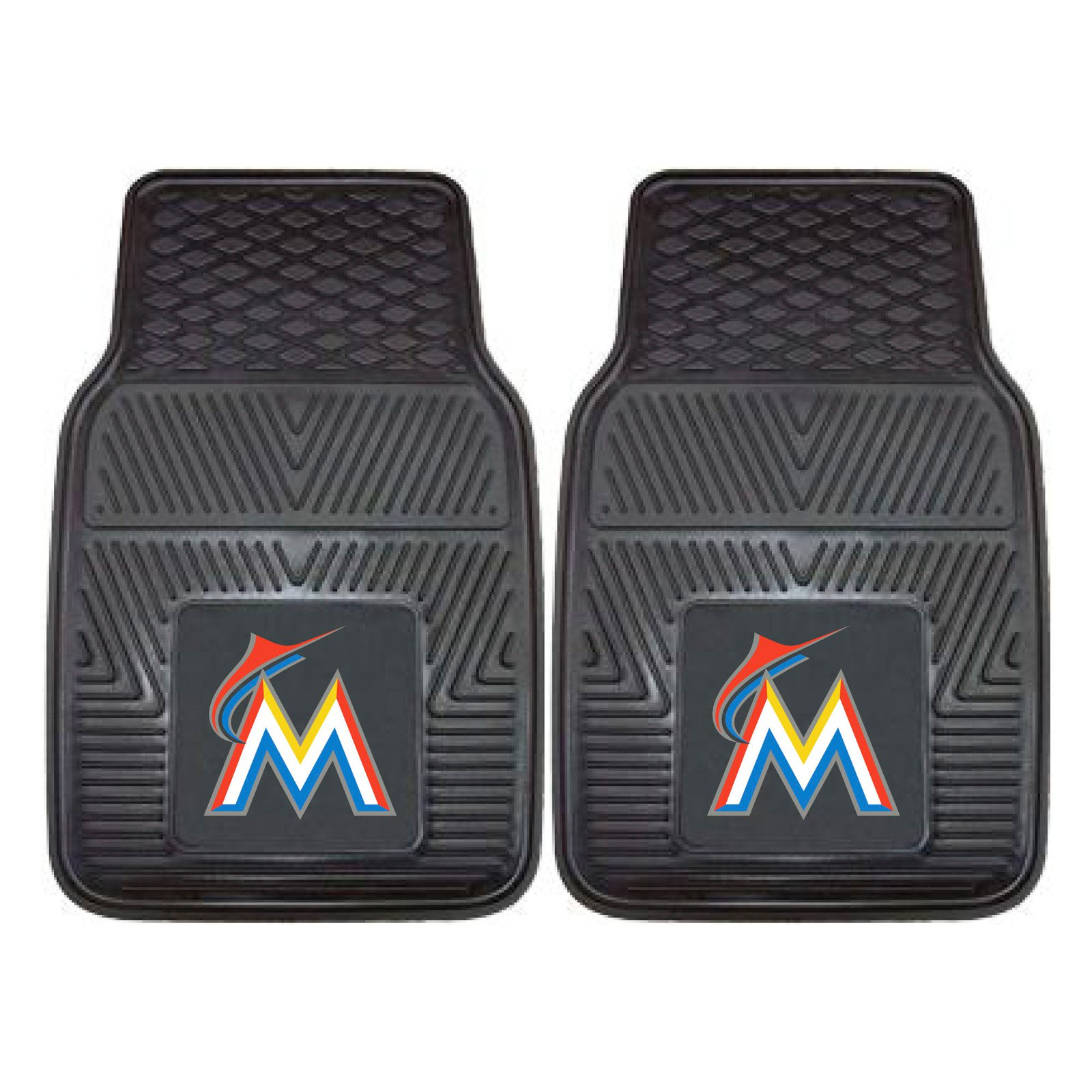 Fan Mats MLB Baseball Vinyl Car Mats - Set of 2