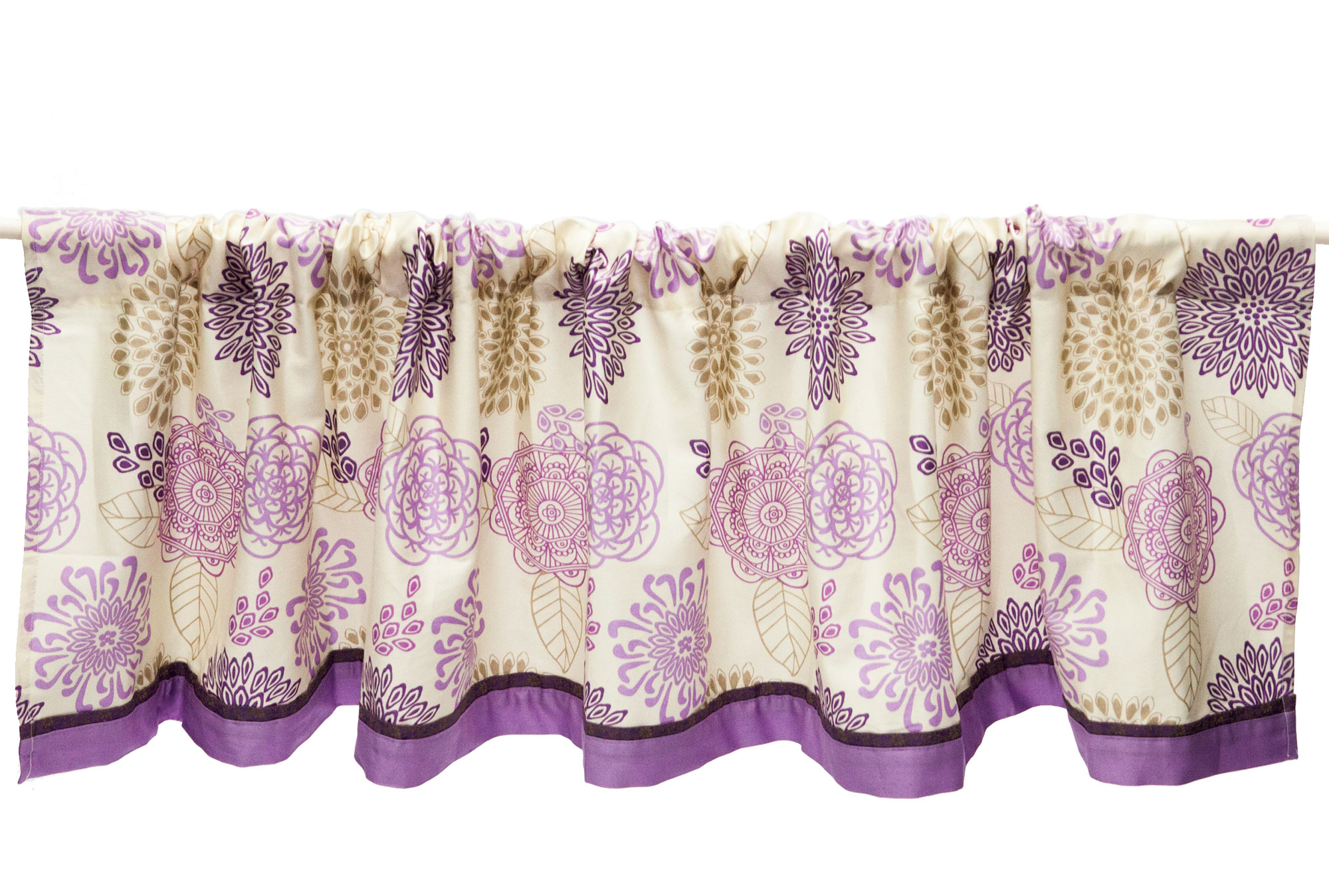 The Peanut Shell Window Valance Purple and Lavender Floral Design Dahlia Baby Bedding Collection by The Peanut Shell