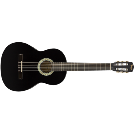 Fender Squier SA-150N Black Full Size Nylon String Classical Acoustic