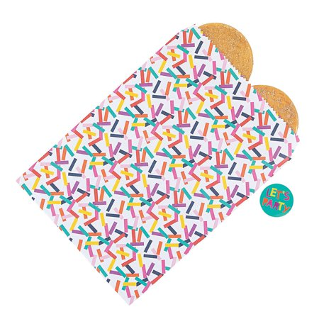 Fun Express Tropical Confetti Paper Bags For Party