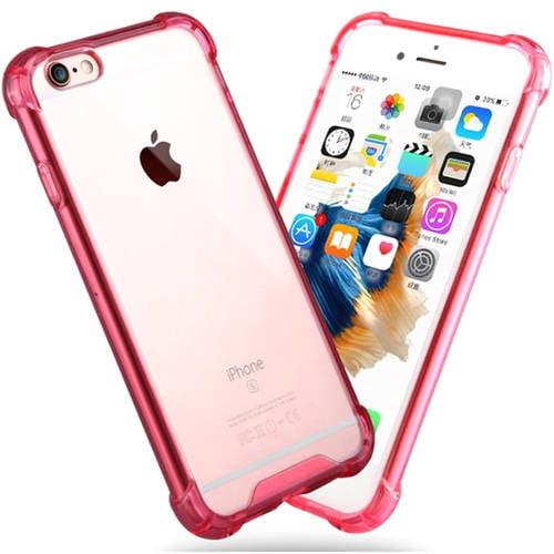 KIKO Wireless Slim Crystal Clear Hybrid Case for Apple iPhone 7 Plus, Smoke