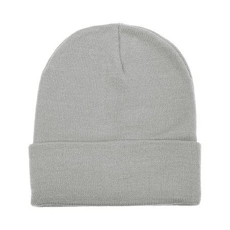 Falari Unisex Beanie Cap Knitted Warm Solid Color Light -