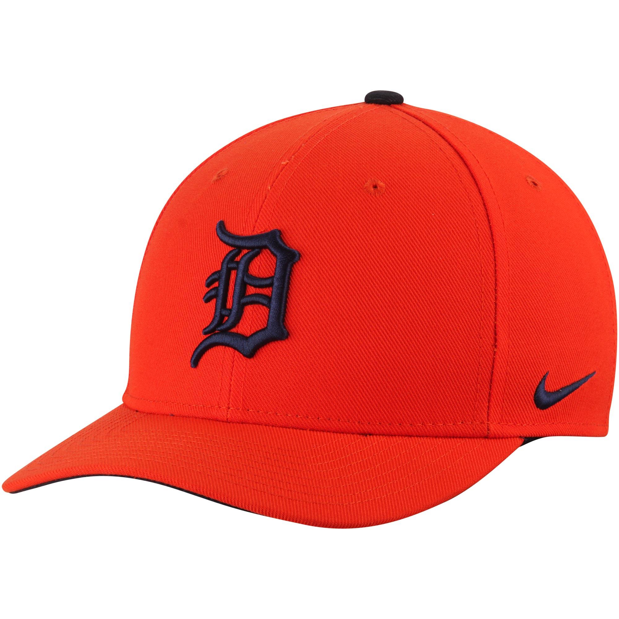 Detroit Tigers Nike Wool Classic Adjustable Performance Hat - Orange - OSFA