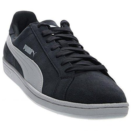 PUMA Men's Smash Leather Classic Fashion Shoe Sneaker, Navy (Classic Leather Sneakers)