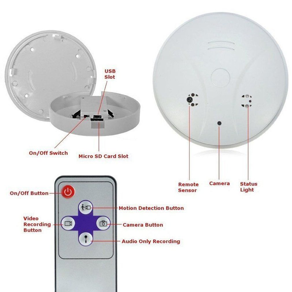 High Sensitivity Fire Smoke Alarm Sensor Standalone Photoelectric Detector Home Security System For Home Kitchen White