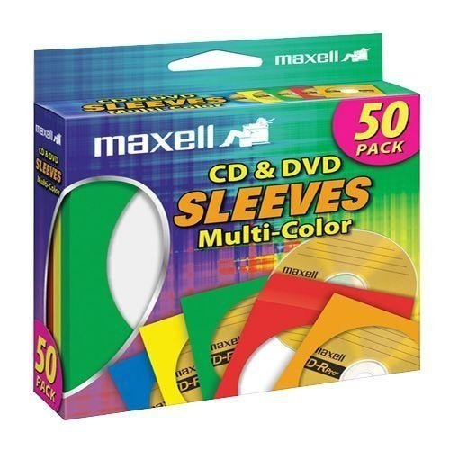 Maxell 190134 CD401 CD/DVD Storage Sleeves