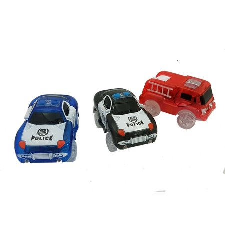 Magic Twister Glow In the Dark - Emergency Vehicles 3pc Set - Glow In The Dark Items For Sale