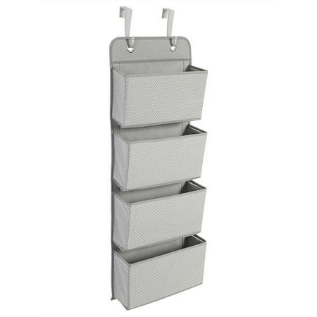 Door Hanging Hook Organiser Bag,4 Tier Storage Pockets Bag Wardrobe