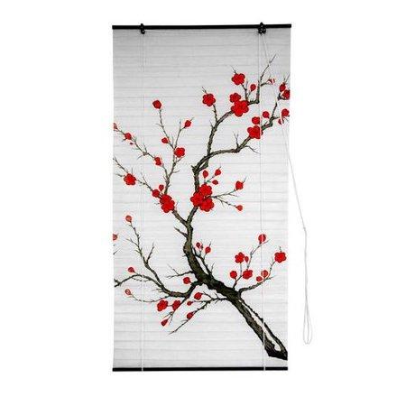Oriental Furniture Blossom Shoji Rice Paper Roller Blind